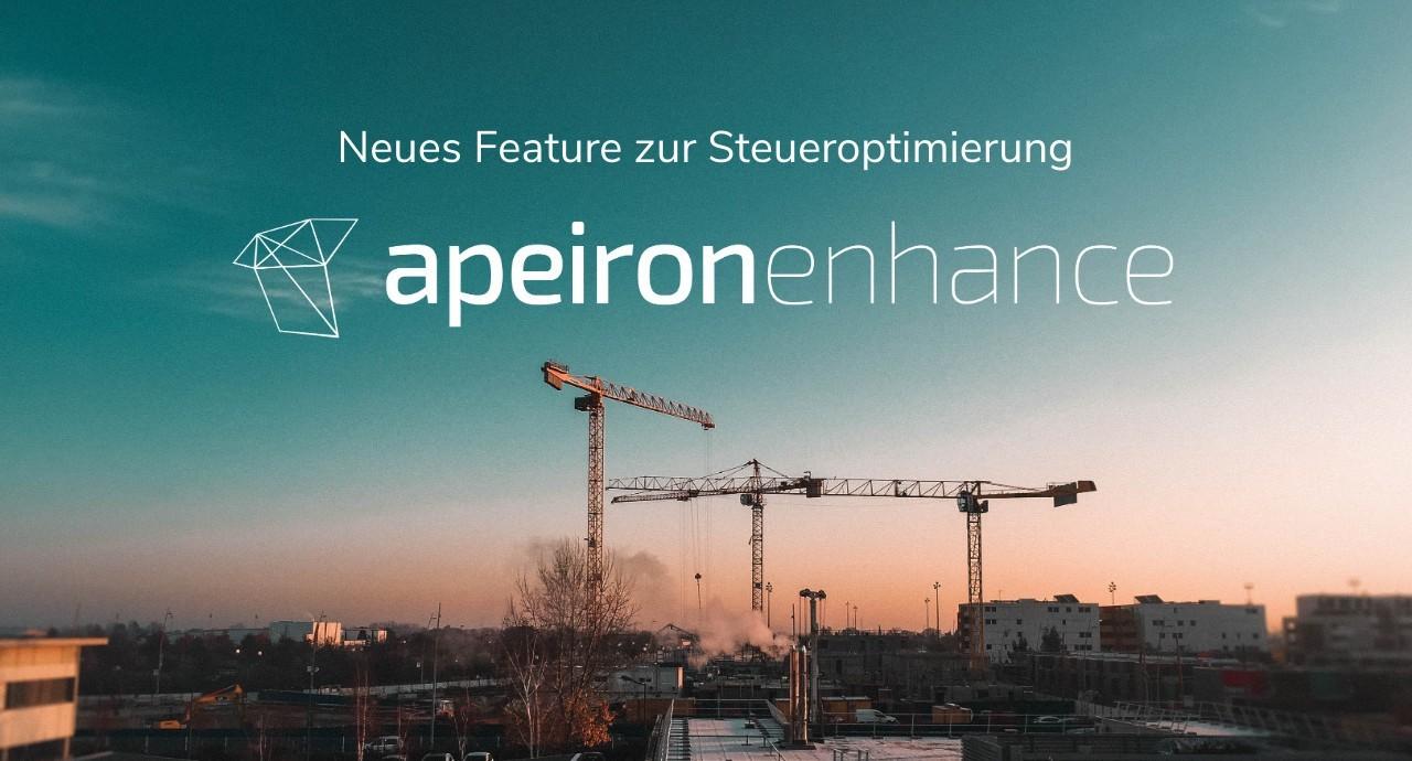 Weiterentwicklung unserer Technologie: apeironenhance
